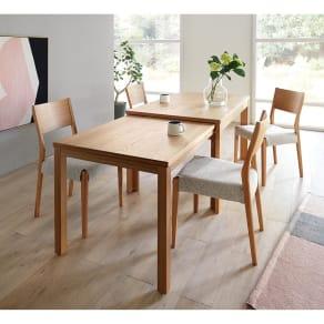 伸長式テーブル 幅130~215cm Vilske/ヴィルスク 伸長式ダイニングシリーズ 写真