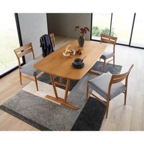 5点セット(チェア4脚) kolmio/コルミオ ダイニングシリーズ テーブル幅150cm×85cm 写真