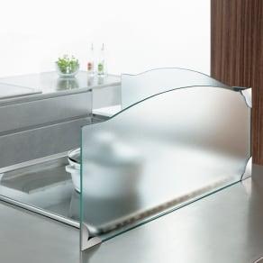 ガラスのコーナーレンジガード コンロ幅60cm用 写真