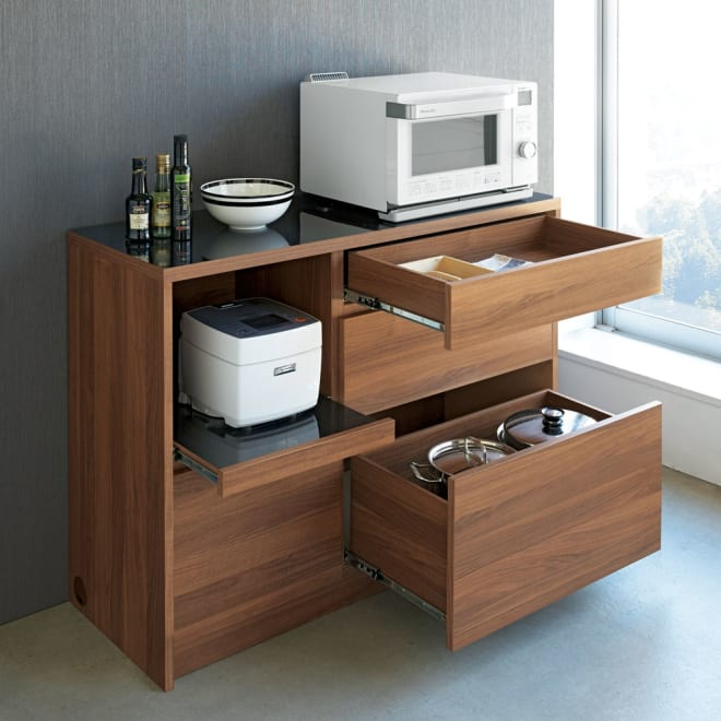 Granite/グラニト アイランド間仕切りキッチンカウンター幅120cm 家電収納付き お届け商品はこちらの幅120cmタイプになります。