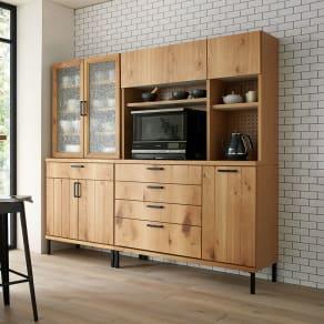 Bonno/ボノ カップボード・食器棚 幅80cm 写真
