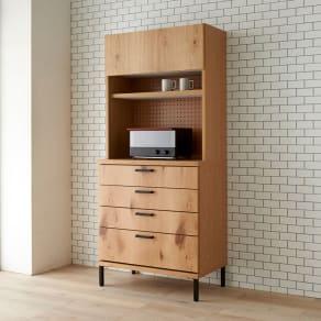 Bonno/ボノ キッチンボード・食器棚 幅80cm 写真