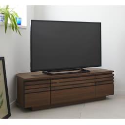 Remonte/ルモンテ 隠しキャスター付きコーナーテレビ台 幅120.5cm (ア)ウォルナット