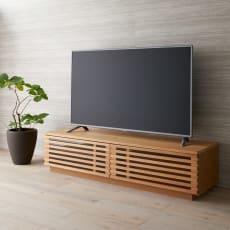 格子デザインシリーズ(オーク) テレビ台 幅150cm