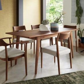 EDDA/エッダ 北欧スタイル 伸長式ダイニングテーブル 幅135~170cm 写真