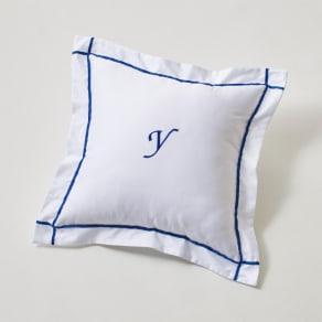 ホテル仕様超長綿サテンカバーリング Ciel シエル 刺繍クッションカバー(1枚) 写真