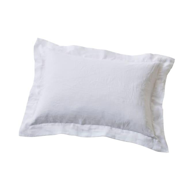 French Linen/フレンチリネン カバーリング ピローケース(同色2枚組) ホワイト