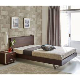 GlanPlus/グランプラス ベッド ベッドフレームのみ クールモダンなデザインにUSB 充電も装備した都会派ベッド