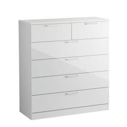 Muro/ムーロ ホワイトモダンチェスト 幅110cm 5段 お届けはこちらの商品です