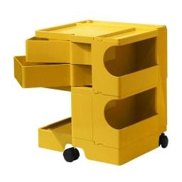 Boby Wagon/ボビーワゴン イエロー・グレータイプ[B-LINE・ビーライン/デザイン:ジョエ・コロンボ] 2段2トレイ・イエロー