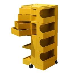 Boby Wagon/ボビーワゴン イエロー・グレータイプ[B-LINE・ビーライン/デザイン:ジョエ・コロンボ] 4段4トレイ・イエロー