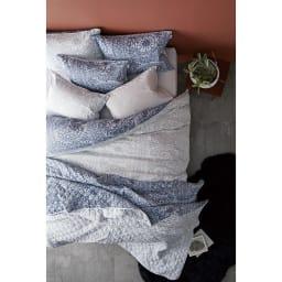 ボーテ超長綿サテンシリーズ ベッドシーツ コーディネート例