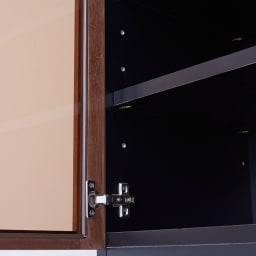 AlusStyle/アルススタイル 薄型ホームオフィス ブックシェルフ幅80cm ブロンズカラーのガラスを採用し、収納物のごちゃつきをさりげなく抑えます。