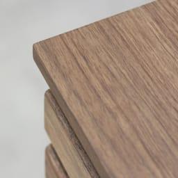 AlusStyle/アルススタイル カウンター下収納庫 チェスト 幅40cm高さ84.5cm シックな木目と深い色合いのダークブラウンは、大人のキッチンインテリアに。