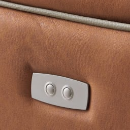 Basso/バッソ 電動リクライニングソファ 3人掛け テーブル付き リクライニングは肘掛け外側のボタンで簡単に操作できます。