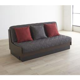 Licol/リコル ソファベッド 幅160 [国産] (エ)ブラウン×ダークグレー