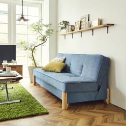 Skrevet/スクレベット 収納付きソファベッド 幅186cm [国産] 横から見てもすっきりとしたデザイン