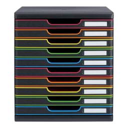 オーストリア製ファイルケース 10段 ブラック
