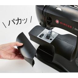 シンガー クラシックブラックミシン 補助テーブルを外せば筒もの縫いもラクラク。