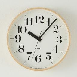 RIKI CLOCK/リキクロック 電波時計 径30.5cm[デザイン:渡辺力] セリフ体