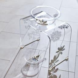 Sarina/サリナ アクリル製 手湯桶 クリア ※お届けは手湯桶です。