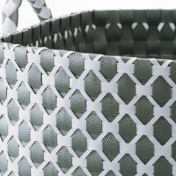 ハンドメイドPPバスケット/ランドリーバスケット  M (ア)グレー サニタリー空間になじみやすく汚れも目立ちにくい、オシャレなグレー