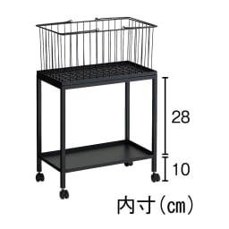 Nifa/ニファ お風呂サイドワゴン 2段 カゴ1個付き