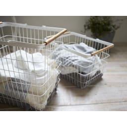 tosca トスカ バスケット M 洗濯物をじゃんじゃん入れても絵になります。