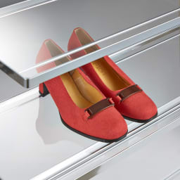 アクリル棚シューズラックシリーズ シューズラック ハイ 幅49cm 靴を美しく飾りながら収納できます。