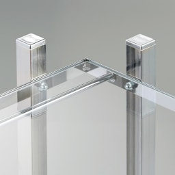 アクリル棚シューズラックシリーズ シューズラック ハイ 幅49cm 圧迫感を軽減し、おしゃれな玄関インテリアを引き立てる収納棚