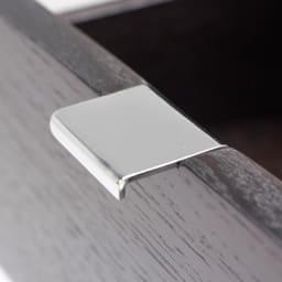 PHILOS/フィロス スリムレッグシリーズ サイドチェスト・ナイトテーブル 幅35cm高さ86.5cm ダークブラウン 引き出し取っ手UP