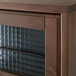 Leale/レアーレ フラップキャビネット 5段タイプ高さ135cm 天板・戸枠にウォルナットの無垢材を贅沢に使用しています。