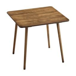 アンティーク風テーパーダイニングテーブル 正方形テーブル幅80cm×80cm[チェコTON社製] 全体(実際の色はこの写真より濃いです)