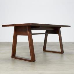 BIS/ビス リビングダイニングテーブル 幅119cm  テーブルの天板下には棚がついています。
