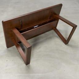 BIS/ビス リビングダイニングテーブル 幅154cm テーブル棚部分アップ