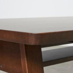 BIS/ビス リビングダイニングテーブル 幅154cm テーブルの角は丸みのあるデザインになっています。