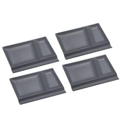 お箸が置けるパレット皿 幅24cm 4枚組 グレー4枚 光の当て方により、色に違いが見られます。グレー色は1枚目の画像をご参照ください。