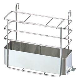 頑丈シンク深型スライド水切り こまごまとしたキッチングッズもOK!便利な箸立て付きです。