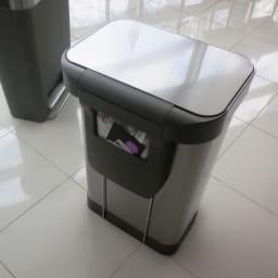 シンプルヒューマン simplehuman ゴミ袋ホルダー付ペダルペール ステンレス 45L