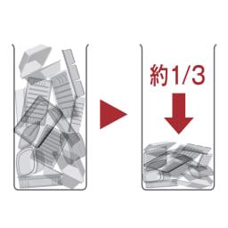 JosephJoseph/ジョセフジョセフ クラッシュボックス ステンレス 20L かさばるゴミもコンパクトに。食品トレーなども、手を汚すことなく約1/3に圧縮。ゴミ出しの回数が軽減されます。
