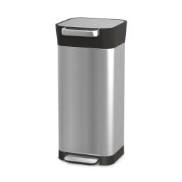 JosephJoseph/ジョセフジョセフ クラッシュボックス ステンレス 20L ゴミを圧縮する画期的なシステムで、30Lの容量に約60Lのゴミが入ります。