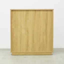 Large/ラルジュ 横格子ダストボックス 3分別(ペール3個付き) 背面(イ)オーク