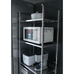 ステンレス棚ダストボックス上幅伸縮ラック 棚3段