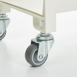 Parvum/パルウム アイアンストレージワゴン幅38cm奥行21cm 台車のキャスターにも使われるエラストマー素材です。