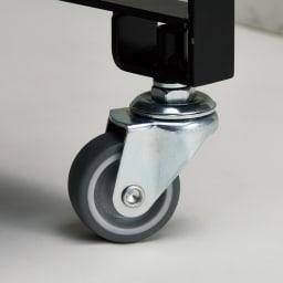 Parvum/パルウム アイアンストレージワゴン幅38cm奥行21cm キャスターは台車にも使われる丈夫な素材。