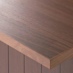 VineII/ヴィネ2 アイランドカウンターウォルナットタイプ ウォルナット天板 幅180cm オーク・ウォルナット天板(ウレタン塗装) 天然木突き板天板は、明るくナチュラルなオークとモダンなウォルナットの2色をご用意。