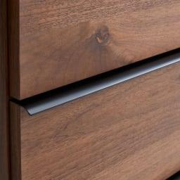Lana/ラナ ステントップボード幅100cm 持ちやすく木目に映えるマットブラック塗装の取っ手。