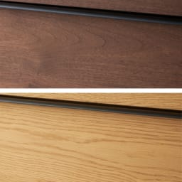 Lana/ラナ ステントップボード幅100cm 上からウォルナット、オーク 天然の木目が魅力 味わいのある木目がラフな印象。