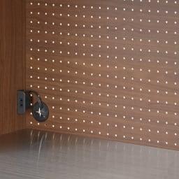 Lana/ラナ ステントップボード・キッチンボード 幅120cm 背面は通気性を考え蒸気を逃がす、パンチングボードを採用。