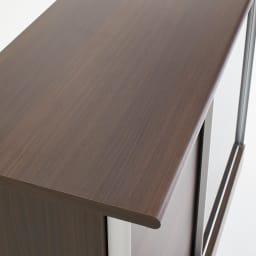 Orga/オルガ スライドキッチン収納 カウンター 幅140cm (イ)ダークブラウン